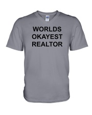 Worlds Okayest Realtor V-Neck T-Shirt thumbnail