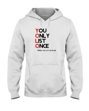 YOLO - You Only List Once Hooded Sweatshirt thumbnail