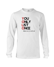 YOLO - You Only List Once Long Sleeve Tee front