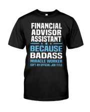 Financial Advisor Assistant Tshirt 191030 Classic T-Shirt tile