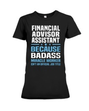 Financial Advisor Assistant Tshirt 191030 Premium Fit Ladies Tee thumbnail