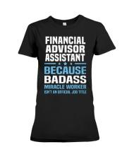 Financial Advisor Assistant Tshirt 191030 Premium Fit Ladies Tee thumbnail