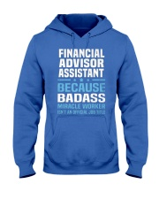 Financial Advisor Assistant Tshirt 191030 Hooded Sweatshirt front
