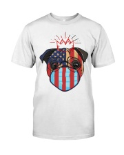 usa flag pug lover design Premium Fit Mens Tee thumbnail