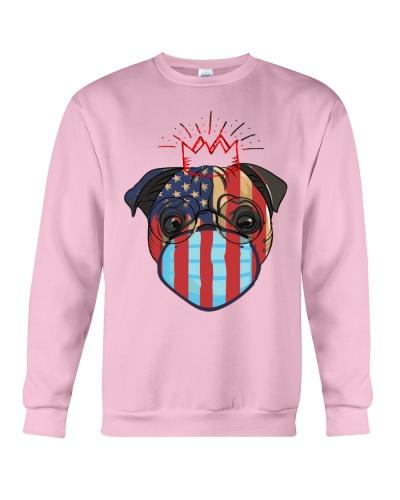 usa flag pug lover design