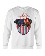 usa flag pug lover design Crewneck Sweatshirt thumbnail