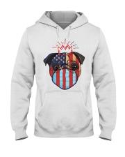 usa flag pug lover design Hooded Sweatshirt thumbnail