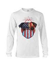 usa flag pug lover design Long Sleeve Tee thumbnail