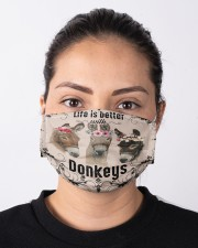 Life is better with Donkeys-mask Cloth face mask aos-face-mask-lifestyle-01