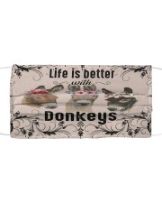 Life is better with Donkeys-mask Cloth face mask front