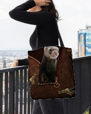 Nice Ferret All-over Tote aos-all-over-tote-lifestyle-front-05