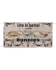 Life is better with Bunnies-mask Cloth face mask front