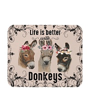 Life is better with Bunnies-mask Mousepad tile