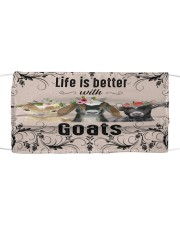 Life is better with Goats-mask Cloth face mask front
