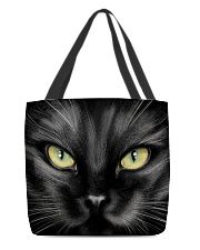 Black cat mask All-over Tote thumbnail