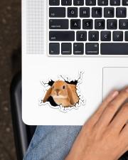 Bunny Crack Sticker - Single (Horizontal) aos-sticker-single-horizontal-lifestyle-front-11