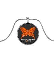 MERKEL CELL CARCINOMA AWARENESS Metallic Circle Necklace thumbnail