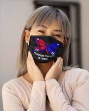 PULMONARY FIBROSIS AWARENESS Cloth face mask aos-face-mask-lifestyle-17