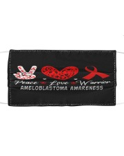 AMELOBLASTOMA AWARENESS Cloth face mask front
