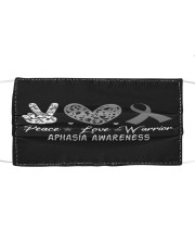 APHASIA AWARENESS Cloth face mask front