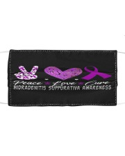 HIDRADENITIS SUPPURATIVA AWARENESS Cloth face mask front