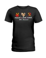 MPN AWARENESS PEACE LOVE CURE Ladies T-Shirt thumbnail