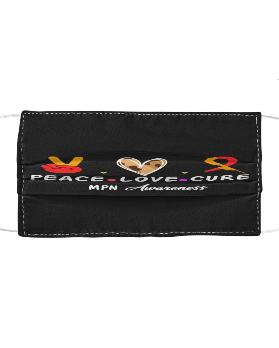 MPN AWARENESS PEACE LOVE CURE Cloth face mask