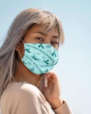 TRIGEMINAL NEURALGIA  AWARENESS Cloth face mask aos-face-mask-lifestyle-19