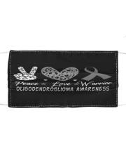 OLIGODENDROGLIOMA AWARENESS Cloth face mask front