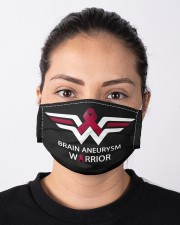 BRAIN ANEURYSM WARRIOR Cloth face mask aos-face-mask-lifestyle-01