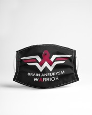 BRAIN ANEURYSM WARRIOR Cloth face mask aos-face-mask-lifestyle-22