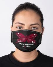 BRAIN ANEURYSM AWARENESS Cloth face mask aos-face-mask-lifestyle-01