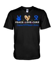 LCH awareness peace love cure V-Neck T-Shirt thumbnail