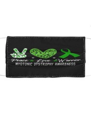 MYOTONIC DYSTROPHY AWARENESS Cloth face mask front