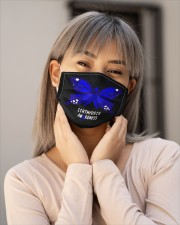 ICHTHYOSIS  AWARENESS Cloth face mask aos-face-mask-lifestyle-17