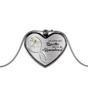 As Long As I Breathe You'll Remembered Metallic Heart Necklace front