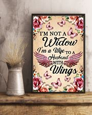 I'm Not A Widow I'm Wife To A Husband With Wings 11x17 Poster lifestyle-poster-3