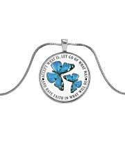 Butterfly Metallic Circle Necklace front