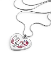 Daddy's Girl I Used To Be His Now He's Mine Metallic Heart Necklace aos-necklace-heart-metallic-lifestyle-05