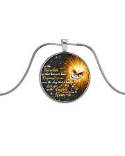 Butterfly Metallic Circle Necklace thumbnail