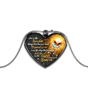 Butterfly Metallic Heart Necklace front