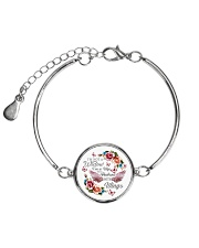 I'm Not A Widow I'm Wife To A Husband With Wings Metallic Circle Bracelet thumbnail