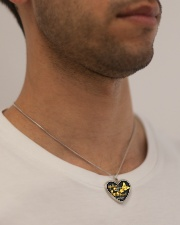 Butterflies Appear When Angels Are Near Metallic Heart Necklace aos-necklace-heart-metallic-lifestyle-2