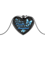 As Long As I Breathe You Will Be Remembered Metallic Heart Necklace front