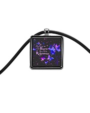 As Long As I Breathe You'll Be Remembered Cord Rectangle Necklace thumbnail