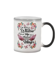 I'm Not A Widow I'm Wife To A Husband With Wings Color Changing Mug thumbnail