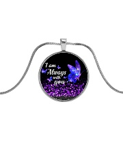 I am Always With You Metallic Circle Necklace thumbnail