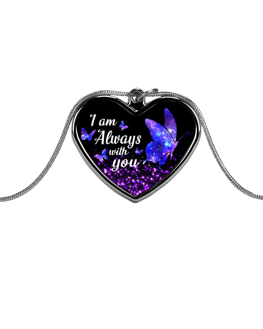 I am Always With You Metallic Heart Necklace