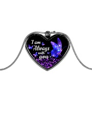 I am Always With You Metallic Heart Necklace front