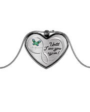 Until I See You Again Metallic Heart Necklace front